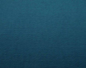 Dark turquoise, wide, medium weighted canvas, thick, fat quarter, pure cotton fabric