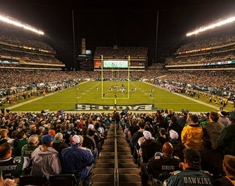Philadelphia Eagles, Lincoln Financial Field, Color Photograph, Football Fan, NFL, Sports Photography, Father's Day Gift, Art Print
