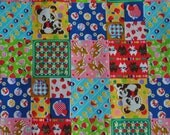 2 meters/yards - Cosmo  fabric with kawaii patchwork  print