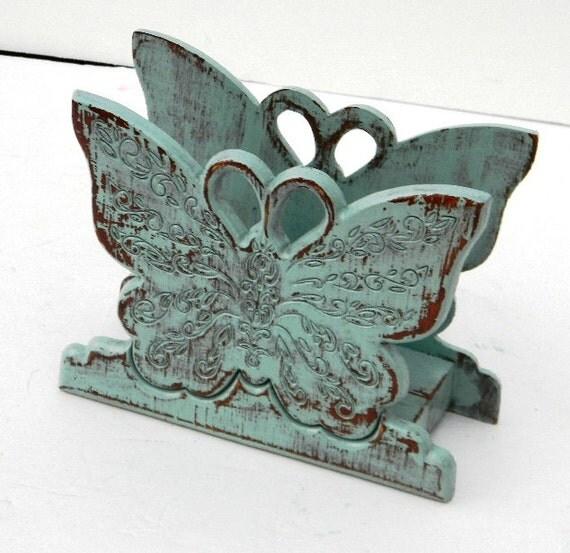 RESERVED FOR ANA Butterfly Napkin Holder Kitchen Decor
