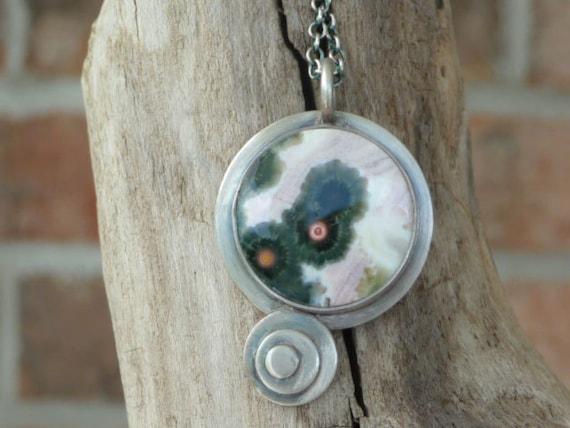 Ocean Jasper Petite Sterling Silver Necklace