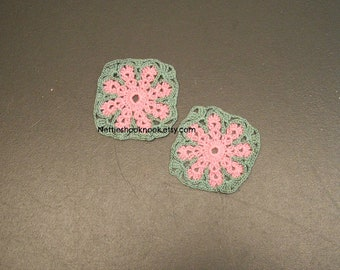 Two little crochet squares