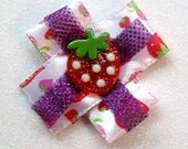 SALE Strawberry Bow, Lolita Bows, Handmade Bows, Strawberry Shortcake