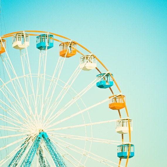 carnival photography nursery ferris wheel circus photo aqua