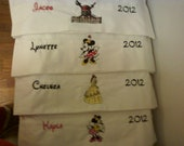 Disney Autograph Pillowcase Name, Character and Year