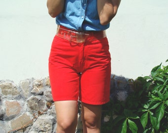 Vintage 80's Red High Waisted Shorts