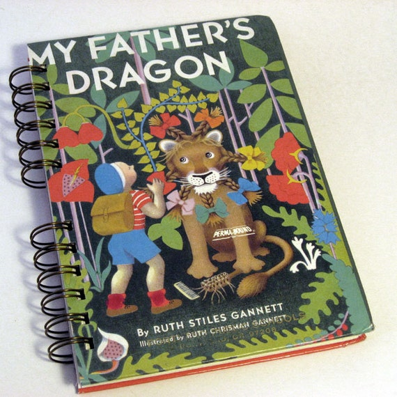 1948 MY FATHER'S DRAGON Handmade Journal Vintage Upcycled Book Vintage Childrens Book