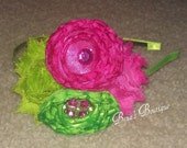 Lime and Hot Pink Headband