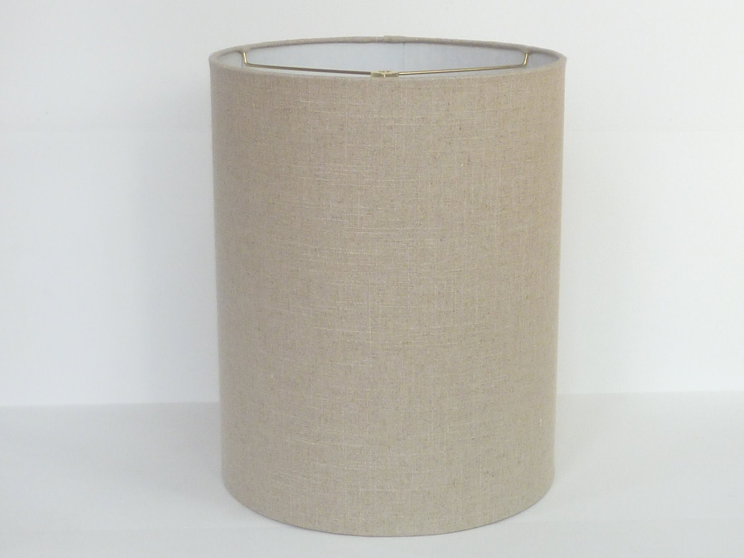 mid century modern linen drum lampshade by lampshadedesigns. Black Bedroom Furniture Sets. Home Design Ideas