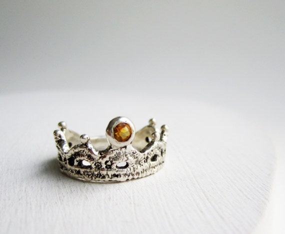 Silver Lace Ring-style 2, with Citrine