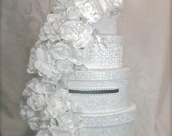 Wedding Card Box, Lace and Pearls, Wedding Card Box, Custom Card Box, Handmade, Gift Card Boxes,  Wedding Gift Box
