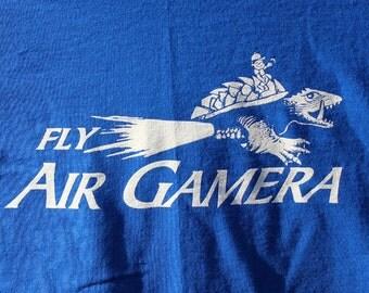 Fly Air Gamera t-shirt  -  Mens/Women/Unisex- MST3K - Royal Blue