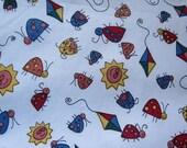 SALE  SALE Ladybugs Fabric, Bugs Fabric, Kids Fabric, 1 yard fabric