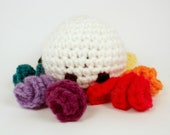 "Crochet Octopus Doll Plush  - ""Exuberance the Octopus"""