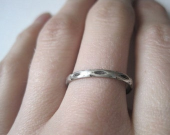 Vintage Sterling Silver and Black Spots Ring