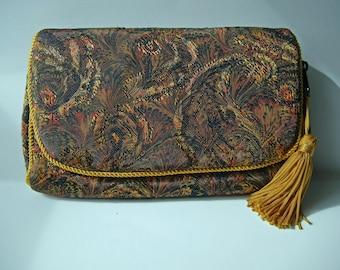 Vintage Cosmetic Makeup Bag Clutch Purse