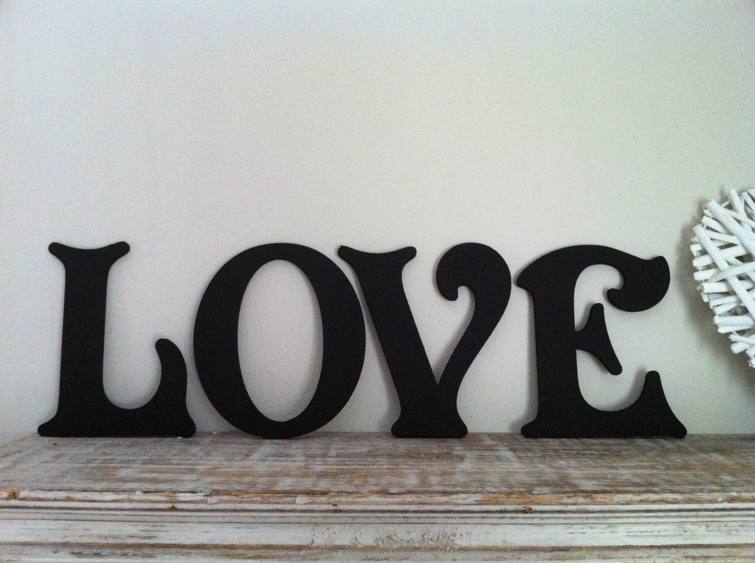 Victorian decorative wall letters set of 4 by loveletterhouse - Decorative wooden letters for walls ...