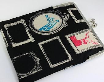Frame clutch for iPad - iPad Case, iPad Sleeve, iPad Cover, PADDED - Animals and Mirrors