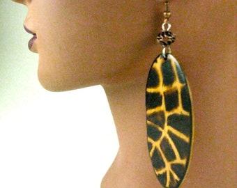 Giraffe Egg Earrings