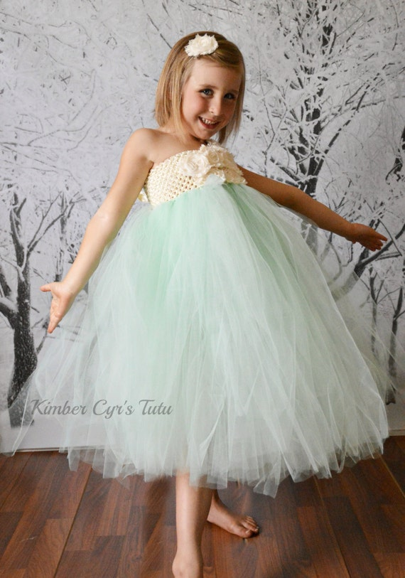 preteen junior etsy lined ivory and mint flower girl or party by kimbercyr on etsy
