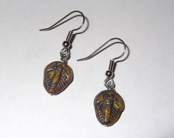 Gorgeous Geekery Trilobite Earrings - Dinosaur, Paleo, Science, Geology, Cambrian