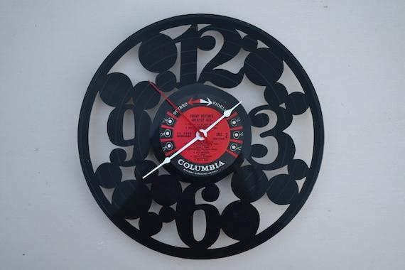 Vinyl Record Album Wall Clock (artist is Johnny Horton)