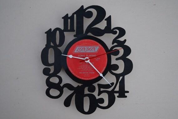 Vinyl Record Album Wall Clock (artist is The Rolling Stones)