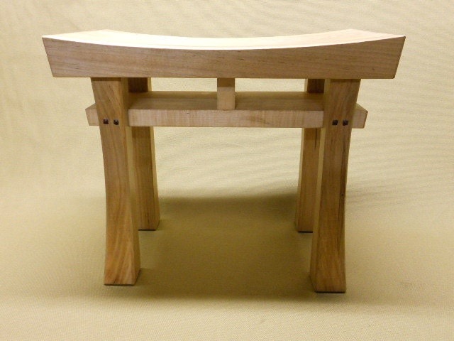 Asian style stool bench seat made to order maple oak