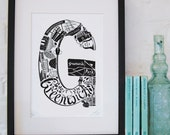 Best of Greenwich limited edition screenprint // London Letters series