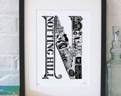 Best of Notting Hill limited edition screenprint // London Letters series