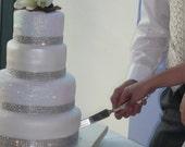 Rhinestone Wedding Cake Bling Rhinestone Banding Cake Sparkle Rhinestone Ribbon Banding 6 yard listing