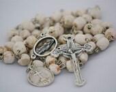 Medjugorje Stone Bead Rosary