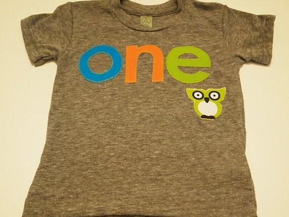 Owl birthday shirt first birthday shirt organic blend tee boys girls birthday customize colors