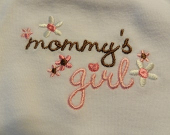 Embroidered Mommy's Girl Bib