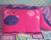 Pink Dinosaur Pillow Sham