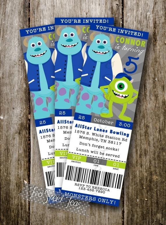 Monster Birthday Party Invitations is amazing invitations sample