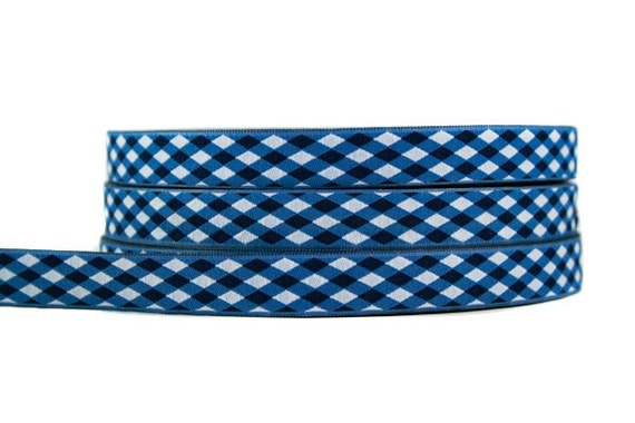 Woven Ribbon: Gingham Design 3 m