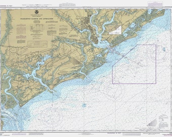 1985 Nautical Chart of Charleston Harbor
