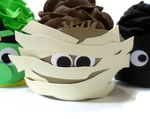 Mummy Halloween Wrappers - set of 12