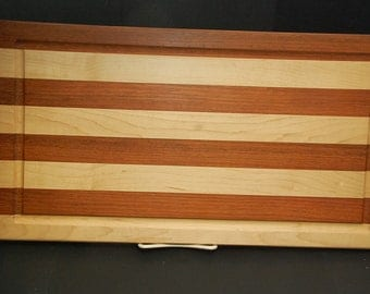 Handmade Exotic Wooden Cutting Board With Juice Groove