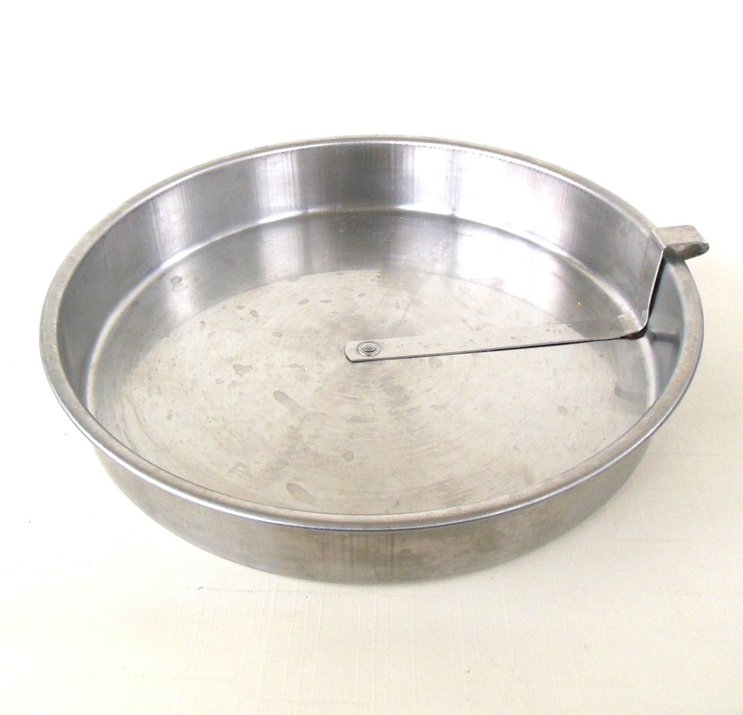 Stainless Slider Cake Pan 9 Round Bake Well Vintage