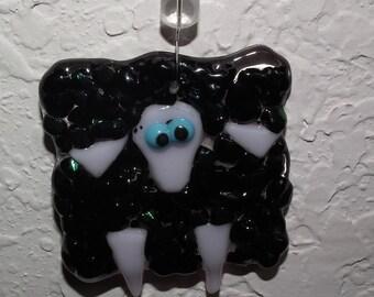 Black Sheep Glass Ornament