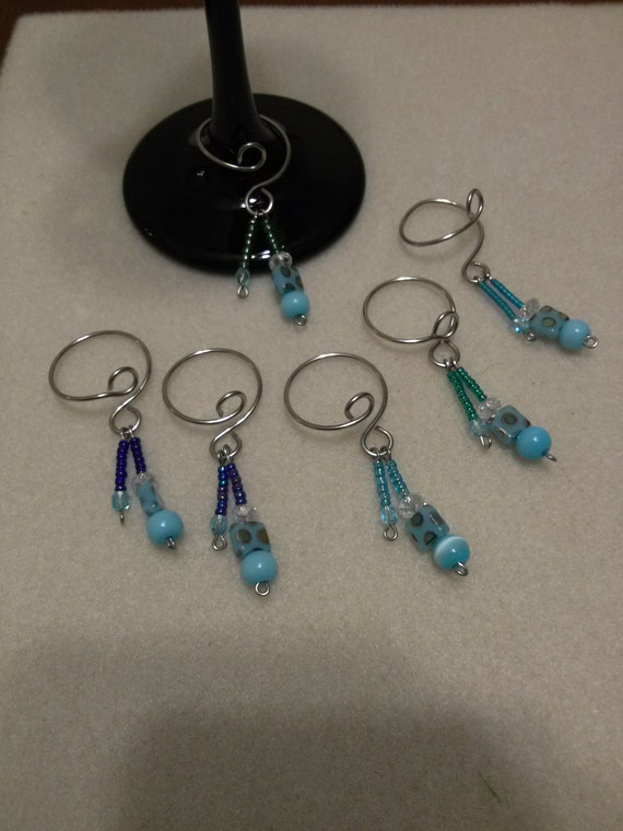 Blues Wine Glass Charms (set of 6)
