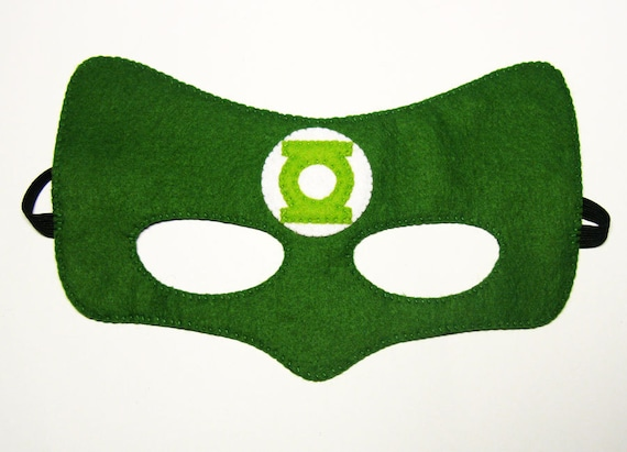 Green Lantern Superhero Mask 2 Years Adult Size Fun Soft