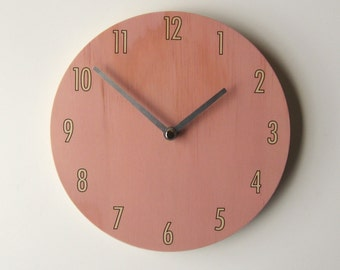 Objectify Pink Shade Wall Clock