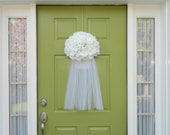 Wedding Wreath - Bridal Veil Wreath - Wedding Shower Decoration - Bridal Shower Wreath-Mother's Day Gift