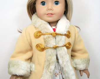 Mid- 1800 century Coat that fit 18 inch doll like American girl doll, Marie Grace, Cecile