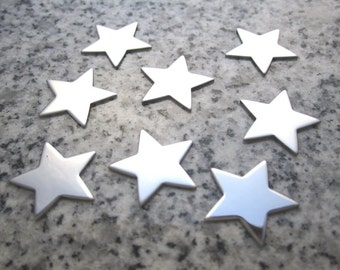 """3/4"""" (18mm) 5 Point Star Stamping Blanks, 22g Stainless Steel - AWESOME Silver Alternative ST06"""