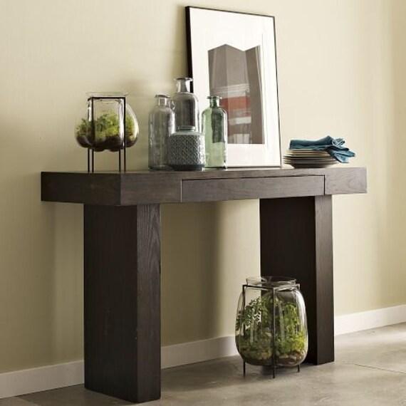 espresso wood console table 2