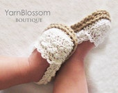 CROCHET PATTERN Baby Girl Espadrille Shoes (4 sizes included from 0-12 months) Instant Download PDF digital pattern